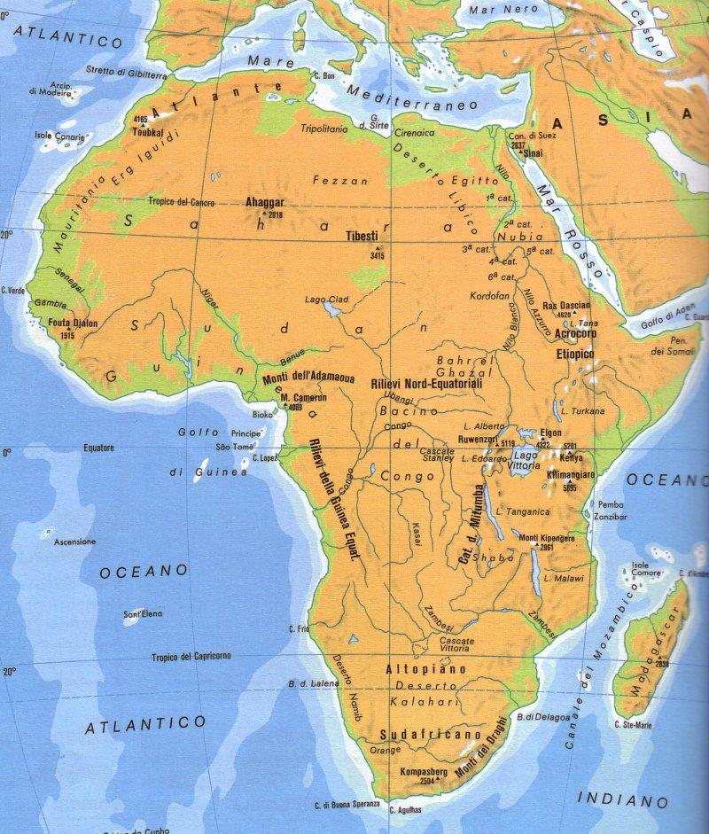 Cartina Fisica Del Marocco.Senegal Africa Cartina Geografica