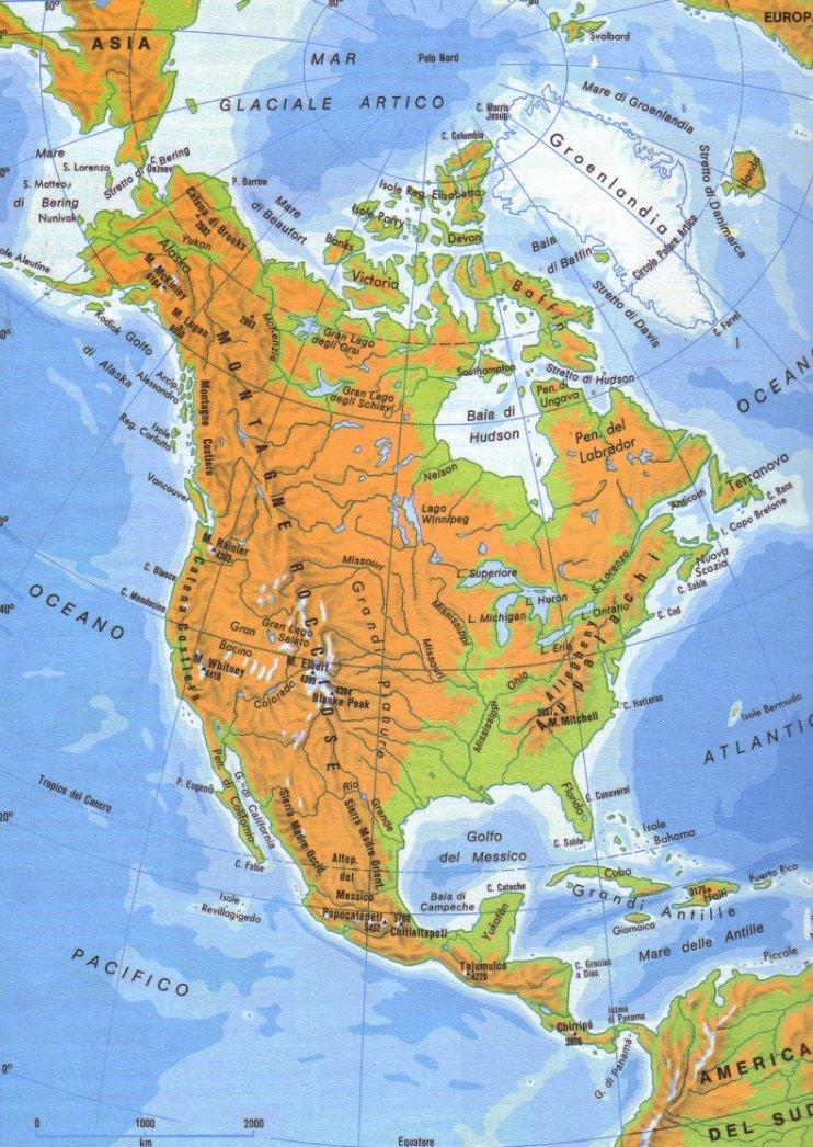 Cartina Muta Delle Americhe.Guide Turistiche America Settentrionale