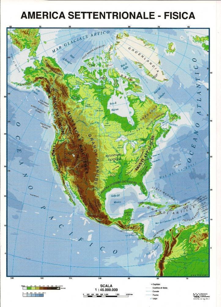 Cartina Geografica America Del Nord Fisica Pieterduisenberg