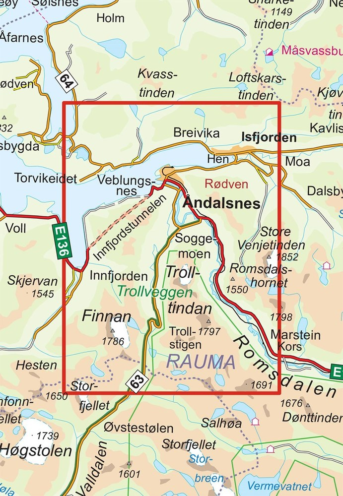 romsdalseggen kart 2756 Romsdalseggen romsdalseggen kart
