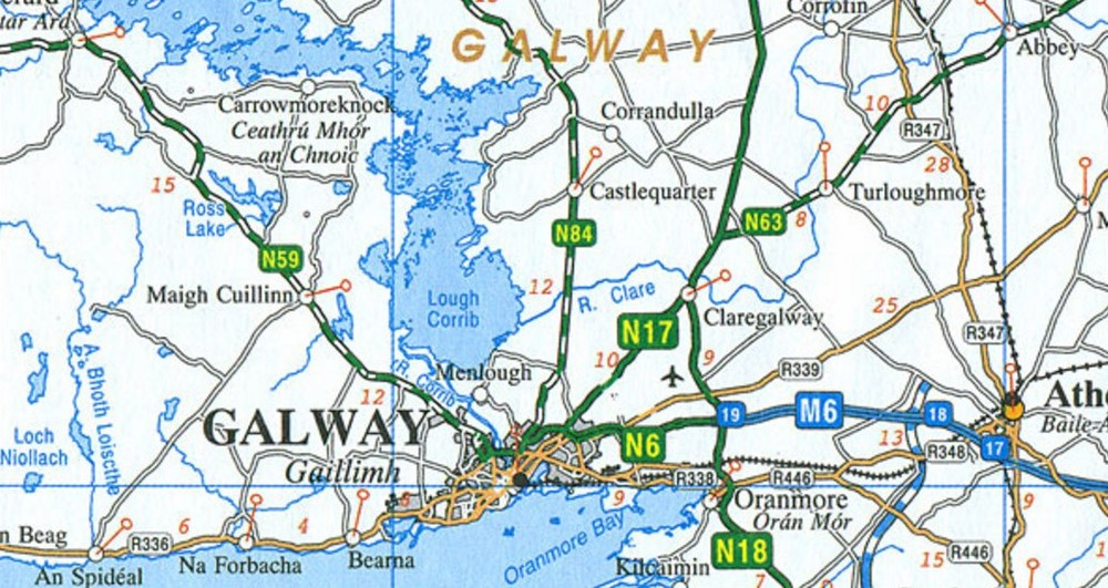 Map Of Ireland For Driving.Osi 12 Ireland Driving Map