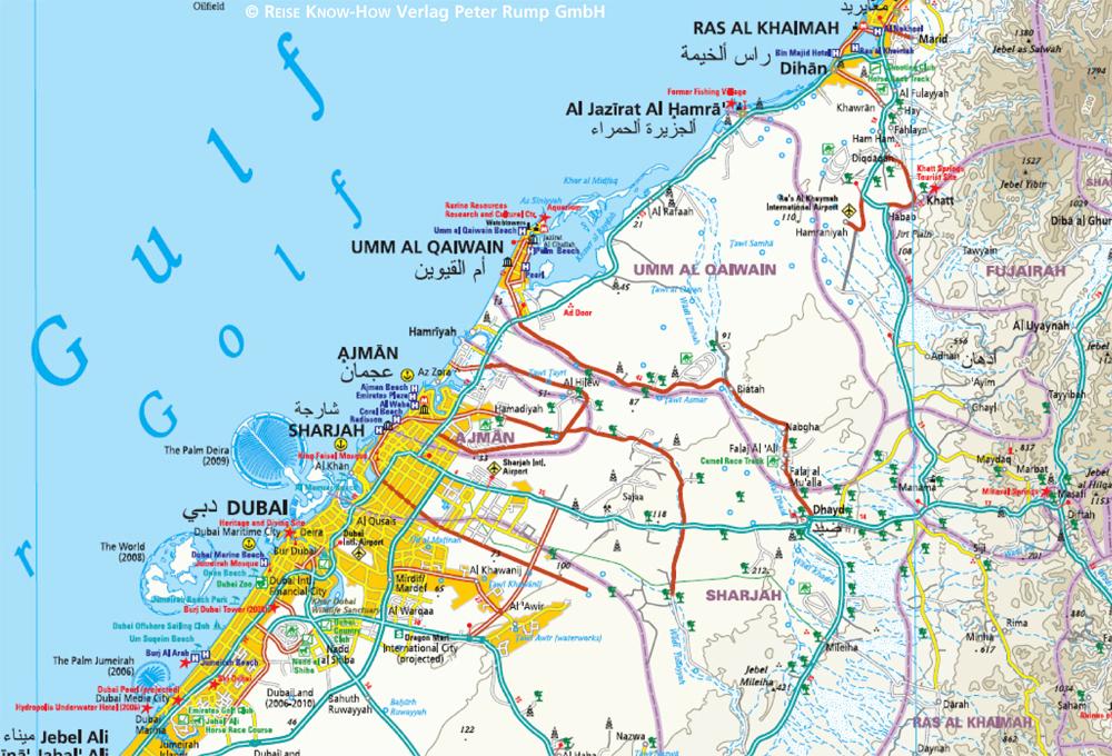 Cartina Geografica Di Dubai.Emirati Arabi Uniti