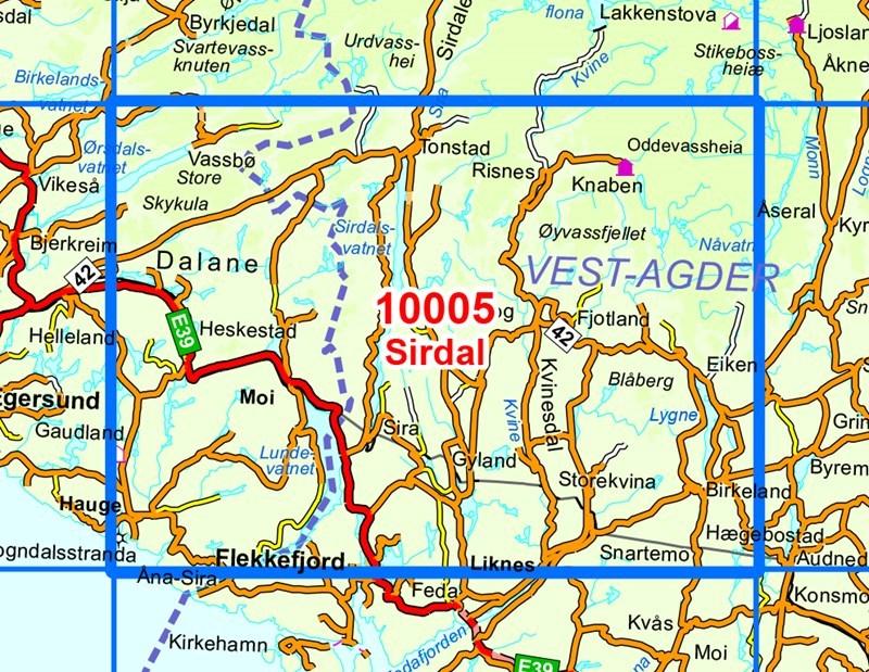 kart sirdalen 10005 Sirdal kart sirdalen