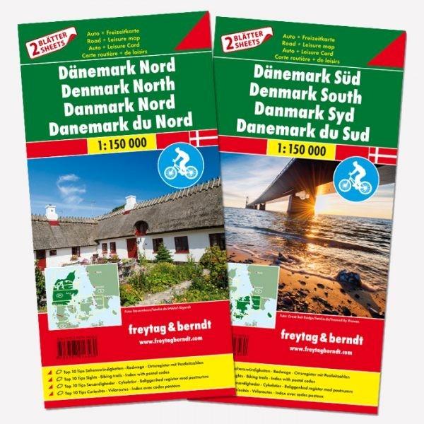 Danimarca nord e sud (set di 2 carte)