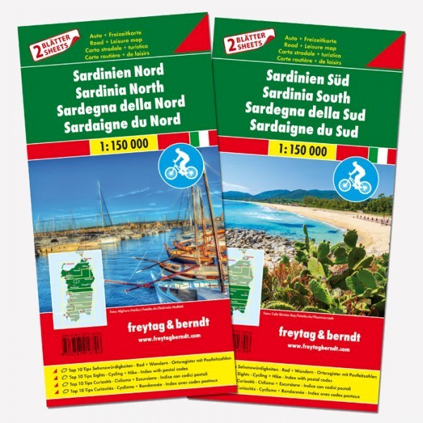 Sardegna nord e sud (set di 2 carte)