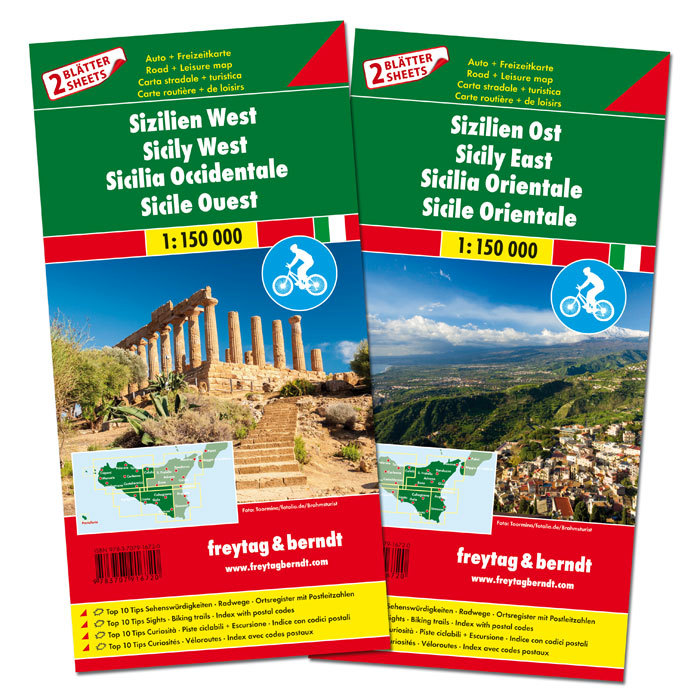Sicilia est e ovest (set di 2 carte)