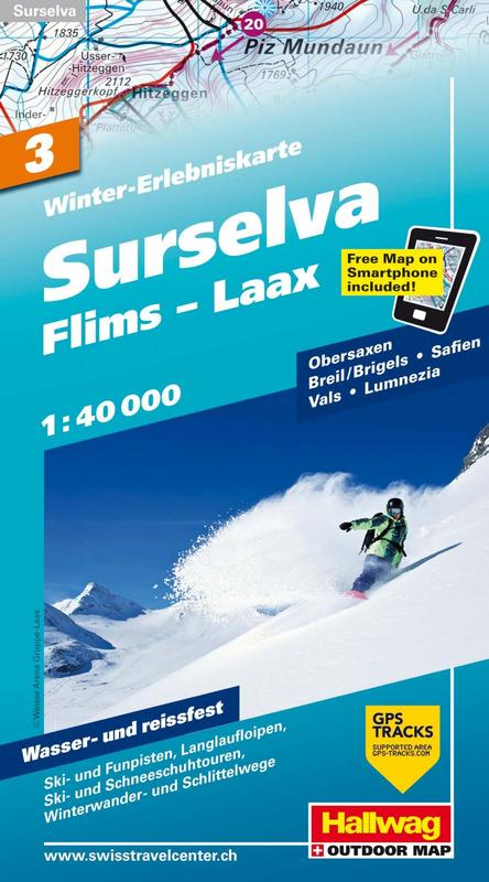 Surselva Flims Laax ski map