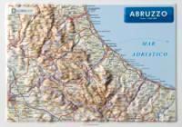 Abruzzo - Carta in rilievo da banco senza cornice