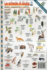 Le schede di Giulia alberi, mammiferi, rettili, uccelli