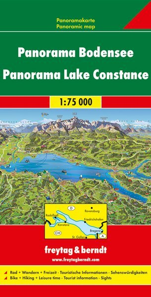 Lago di Costanza carta panoramica