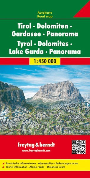 Tirolo Dolomiti Garda (carta stradale e panoramica)