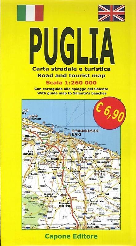 Puglia. Carta Stradale e Guida Turistica. con Cartoguida alle Spiagge del Salento 1:260.000.