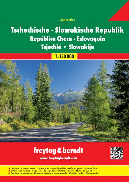 Repubblica Ceca & Slovacca atlante stradale