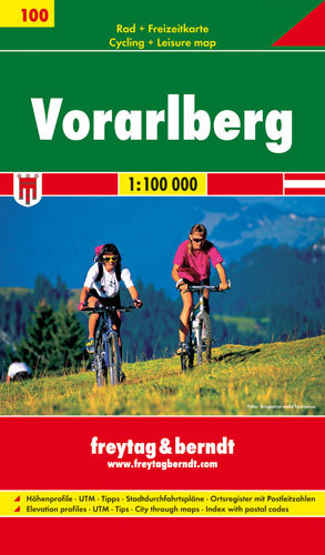 Vorarlberg Radkarte / Cycling Map
