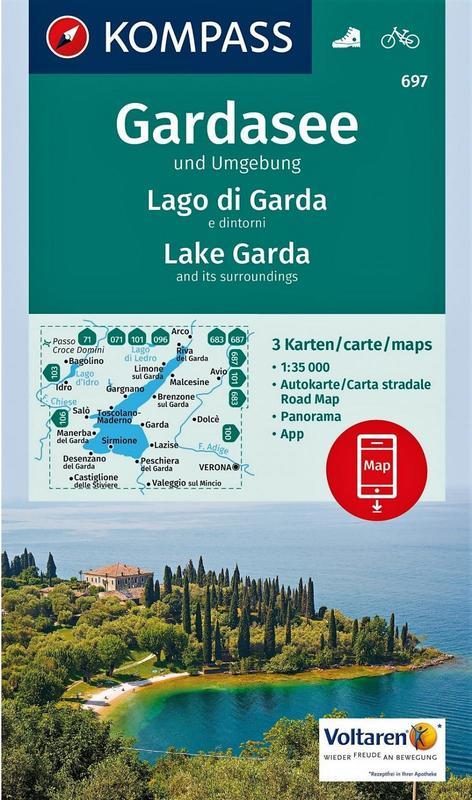 K697 Lago di Garda e dintorni (set di 3 carte)