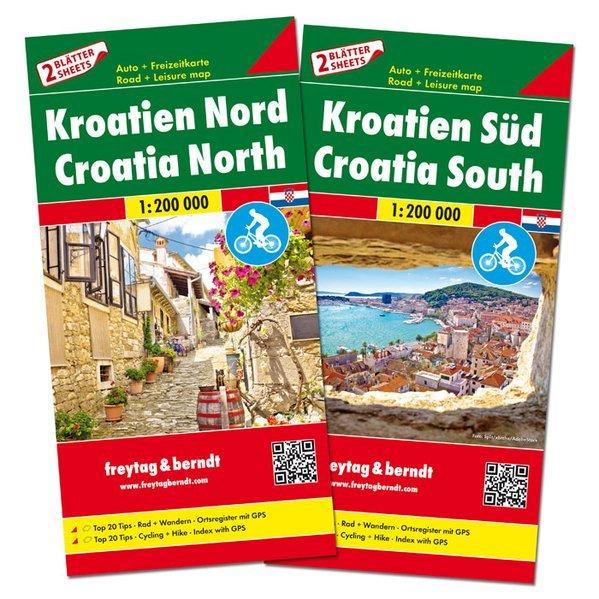 Croazia nord + sud - (set di 2 carte)