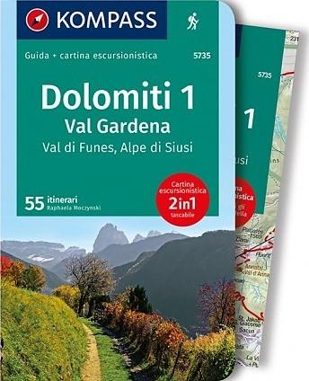 K5735 Dolomiti 1 Val Gardena, Val di Funes, Alpe di Siusi
