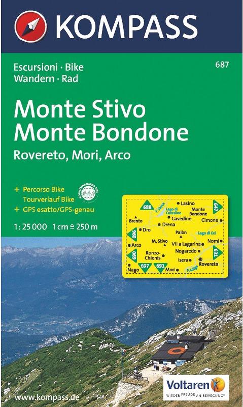 K687 Monte Stivo, Monte Bondone, Rovereto, Mori, Arco