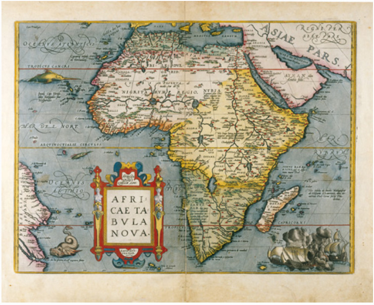 E17 - AFRICAE TABULA EX CONATIBUS GEOGRAPHICIS ABRAH ORTELIIJ