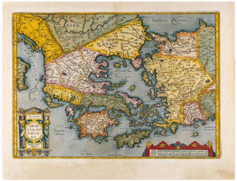 E21 - GRAECIA SOPHIANI EX CONATIBUS GEOGRAPHICIS ABRAH ORTELIIJ