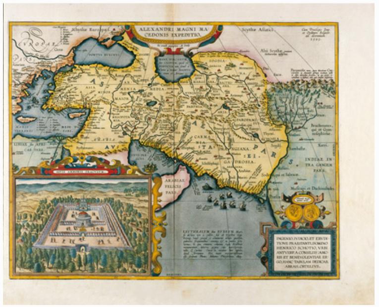 E24 - ALEXANDRI MAGNI EX CONATIBUS GEOGRAPHICIS ABRAH ORTELIIJ