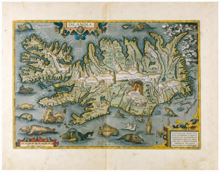 E27 - ISLANDA EX CONATIBUS GEOGRAPHICIS ABRAH ORTELIIJ