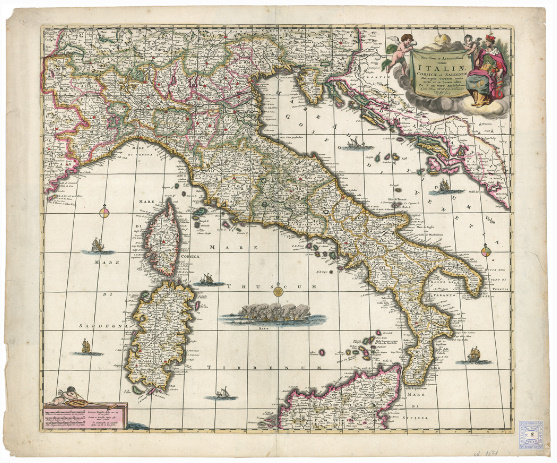 D4 - NOVISSIMA ET ACCURATISSIMA TOTIUS ITALIAE CORSICAE ET SARDINAE...