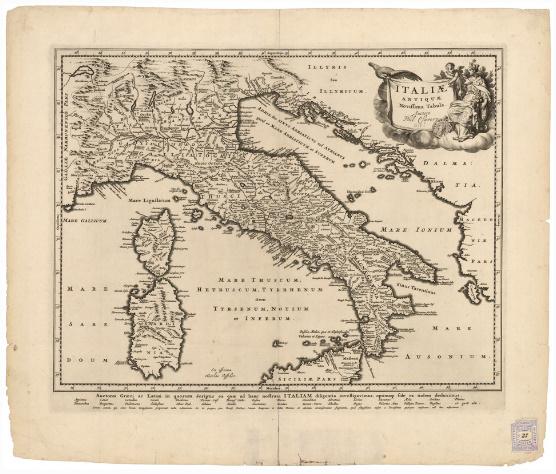 D3 - ITALIAE ANTIQUAE NOVISSIMA TABULA...
