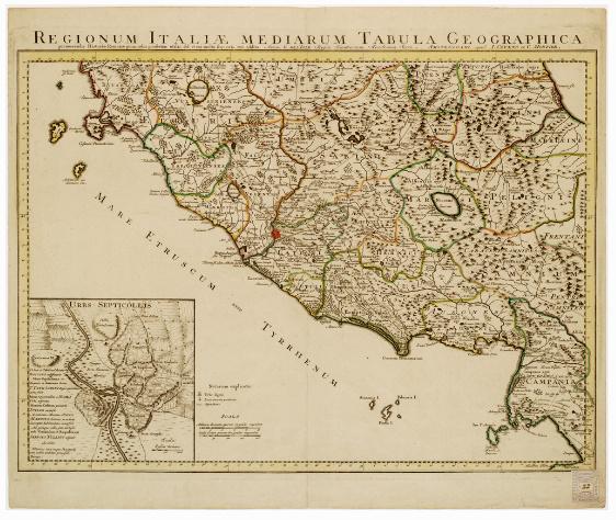 B10 - REGIONUM ITALIAE MEDIARUM TABULA GEOGRAPHICA...