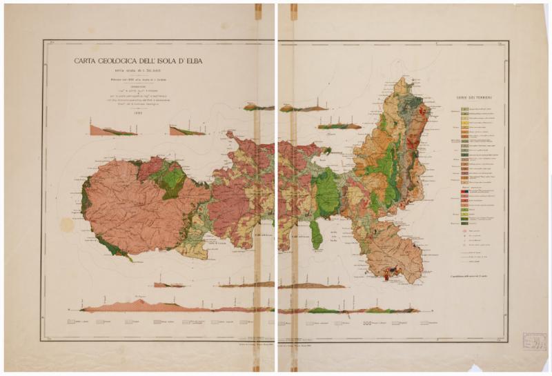 (8597) CARTE GEOLOGICA DELL'ISOLA D'ELBA