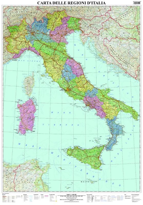 Carta delle regioni d'Italia (murale)