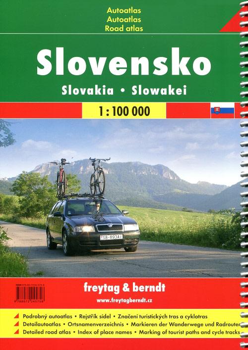 Slovacchia road atlas + walking & cycling routes