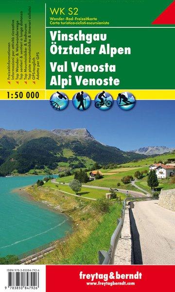 Vinschgau – Ötztaler Alpen, Wanderkarte / Val Venosta - Alpi Venoste