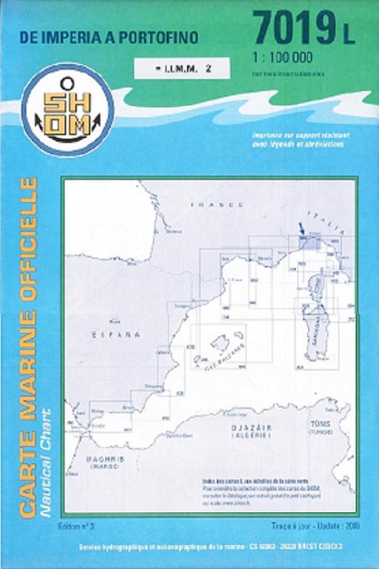 SHOM 7019L De Imperia à Portofino
