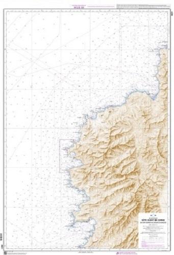 SHOM 6821 Côte Ouest de Corse du Cap Corse au Golfe d'Ajaccio